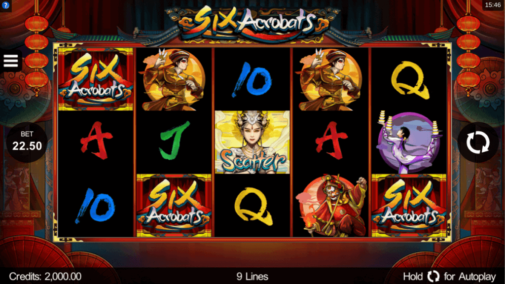 Six Acrobats Slot Machine