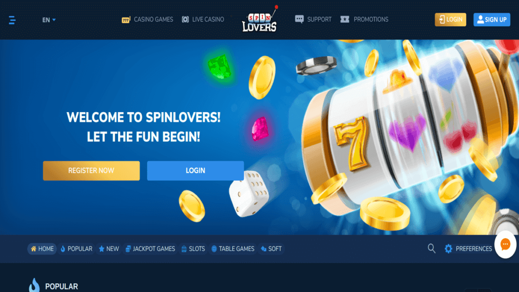 SpinLovers Casino Review