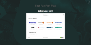 Choose a country and select bank